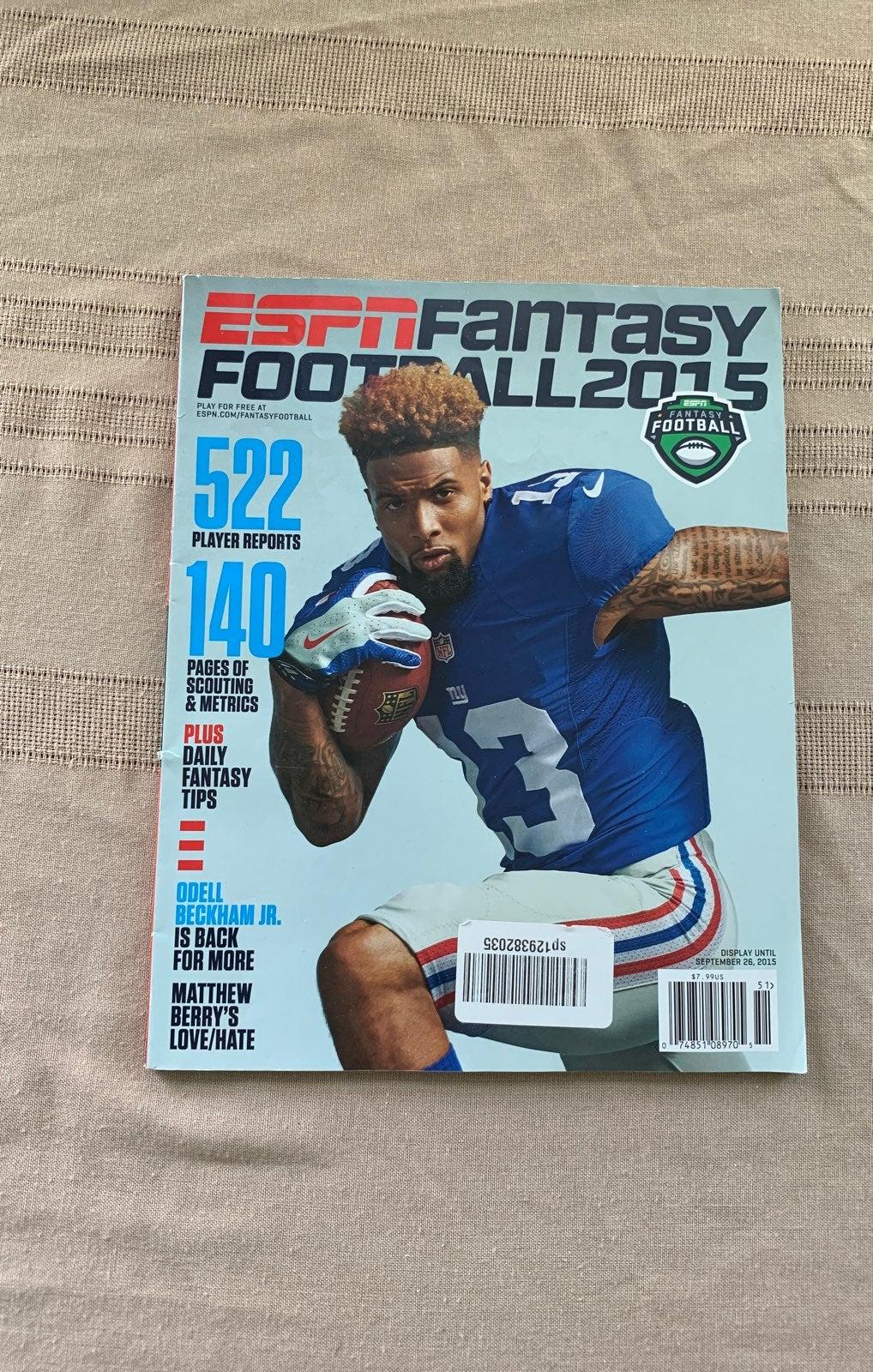 ESPN Fantasy Football 2015 Magazine