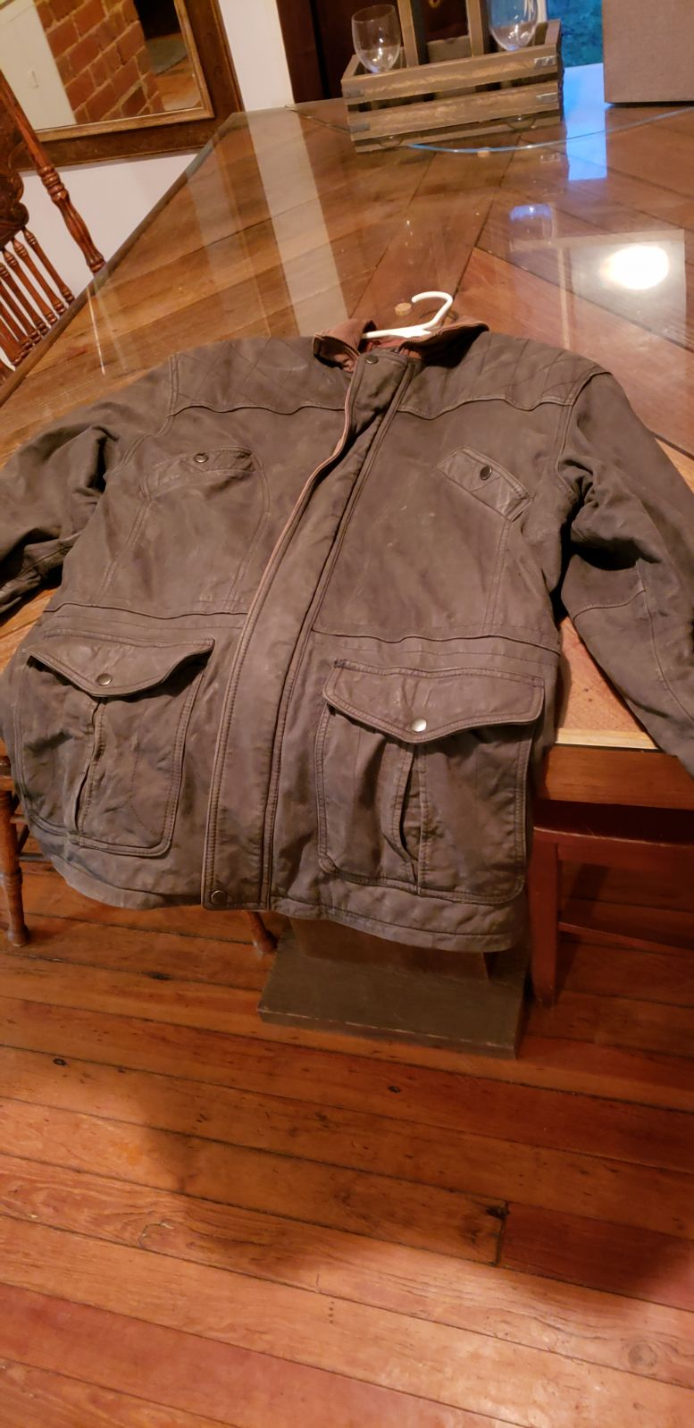 Green Leather Jacket Large