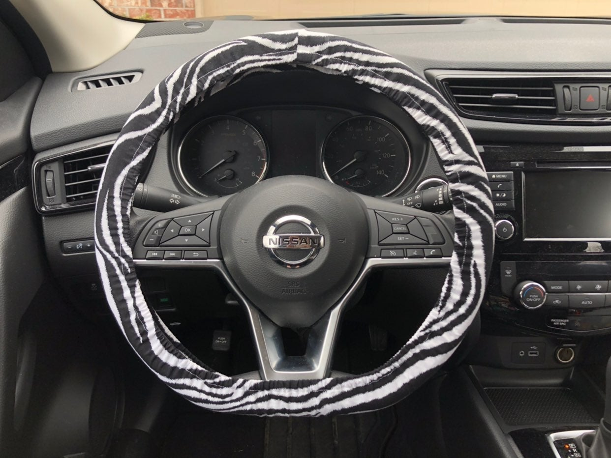 Zebra Steering Wheel Cover