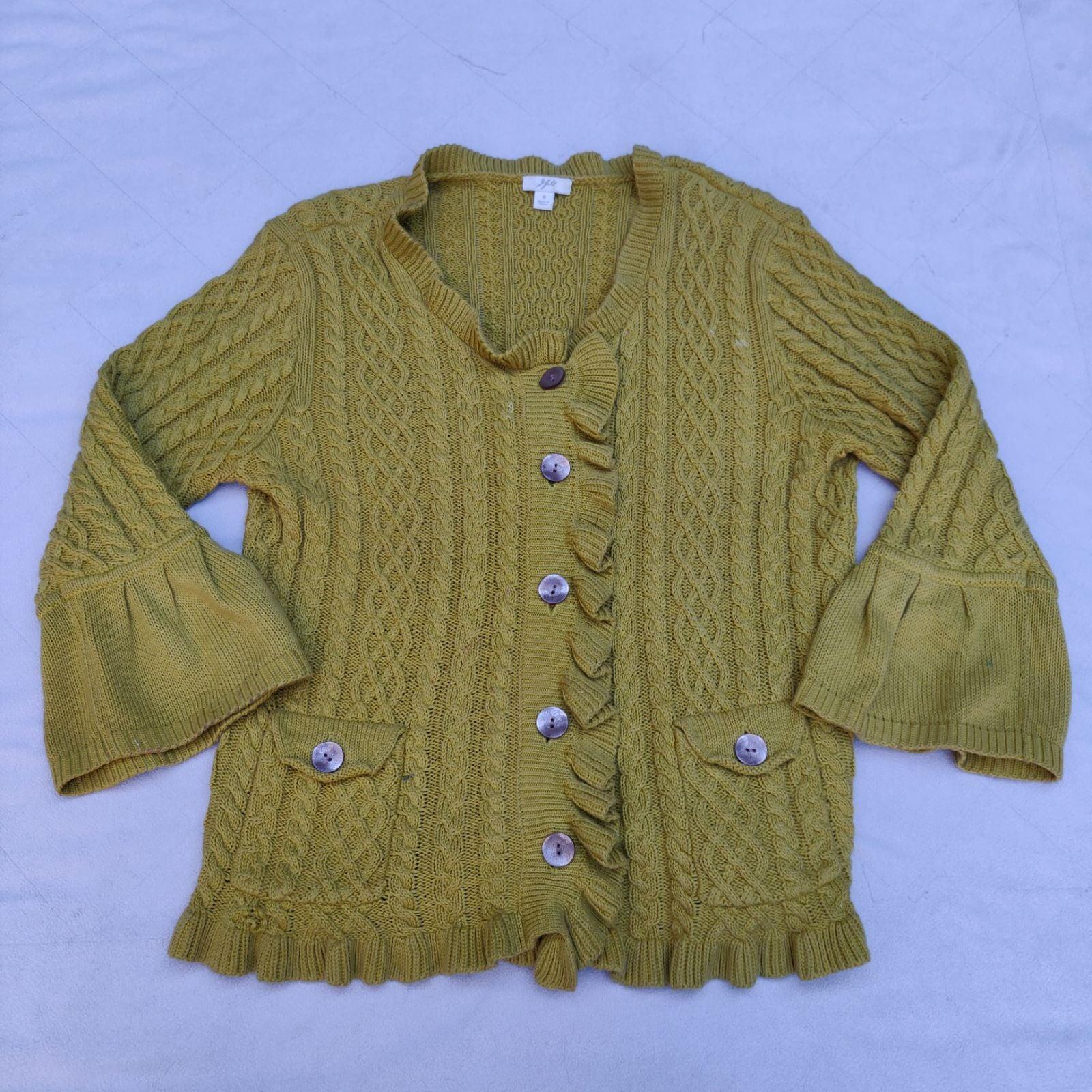 J. Jill Cable Knit Cardigan Sweater