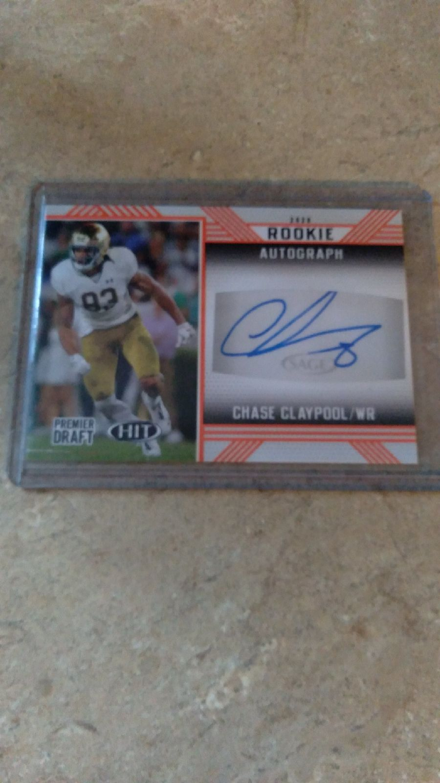 Chase claypool autograph Hit rc