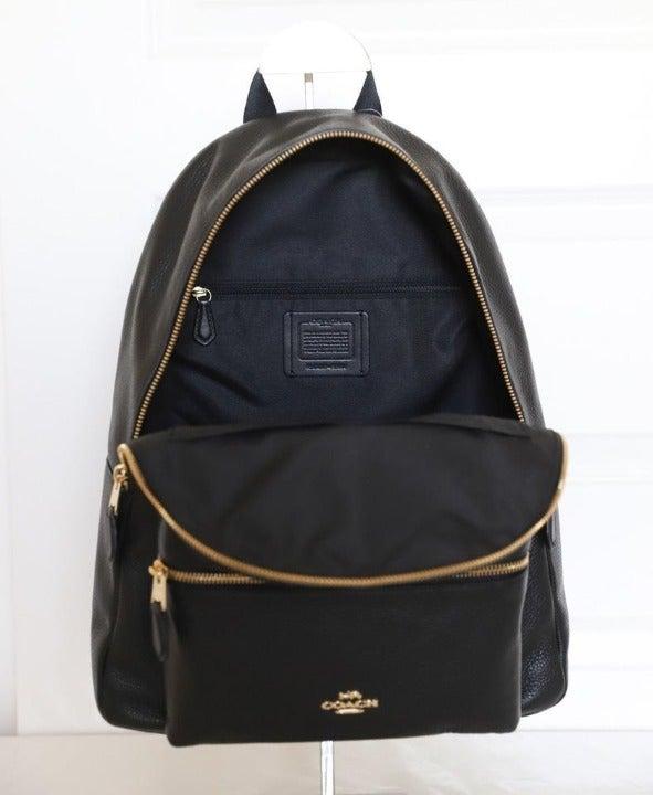 Coach Pebble Grain Leather Lg Backpack