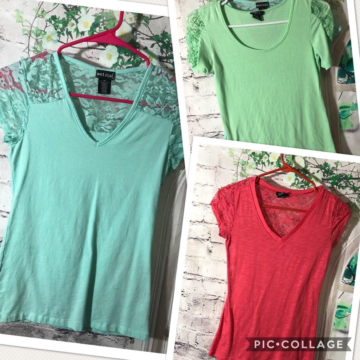 3-Small/Medium Shirts From Wet Seal