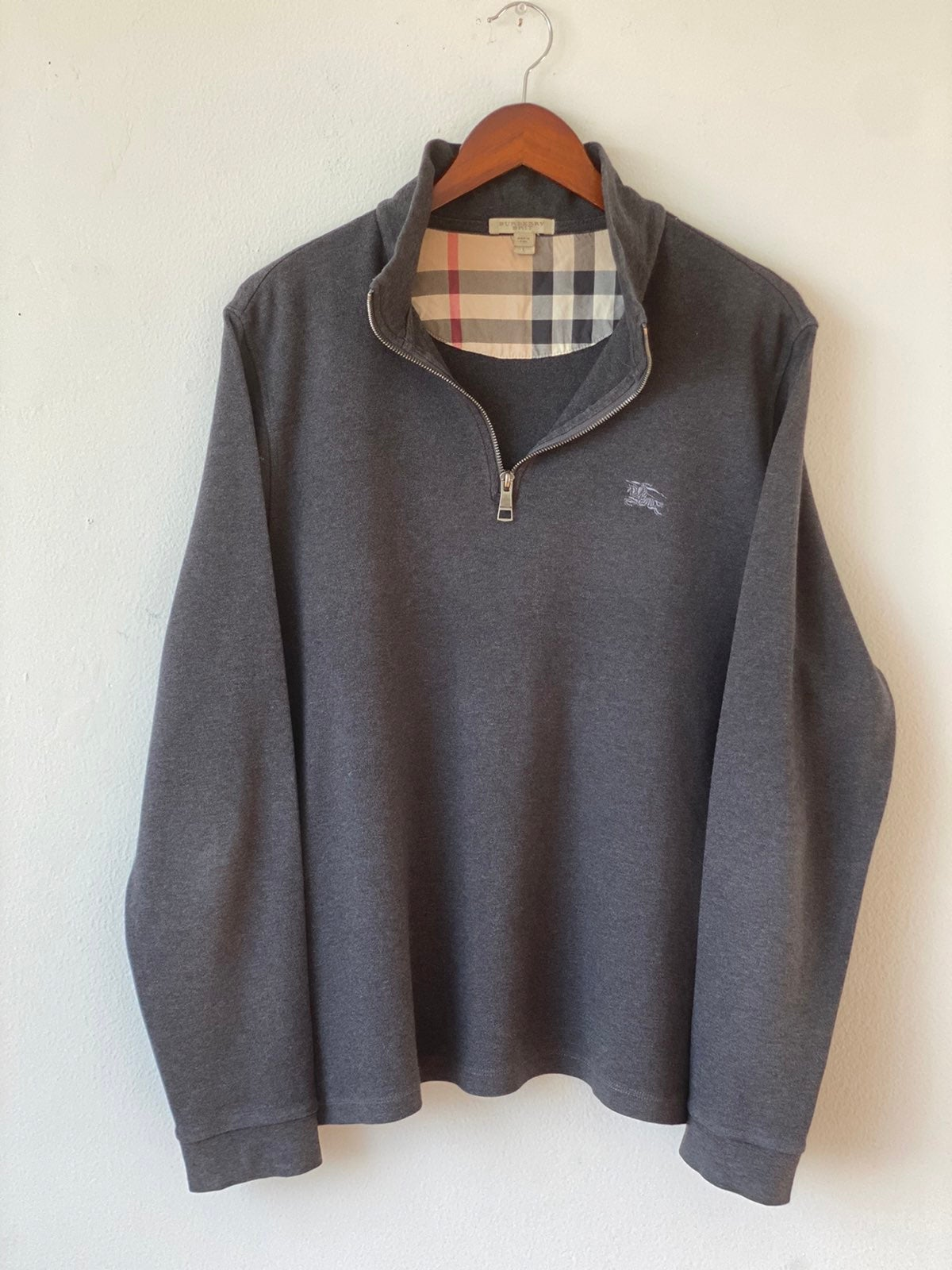 Burberry Half Zip Sweater Sz L