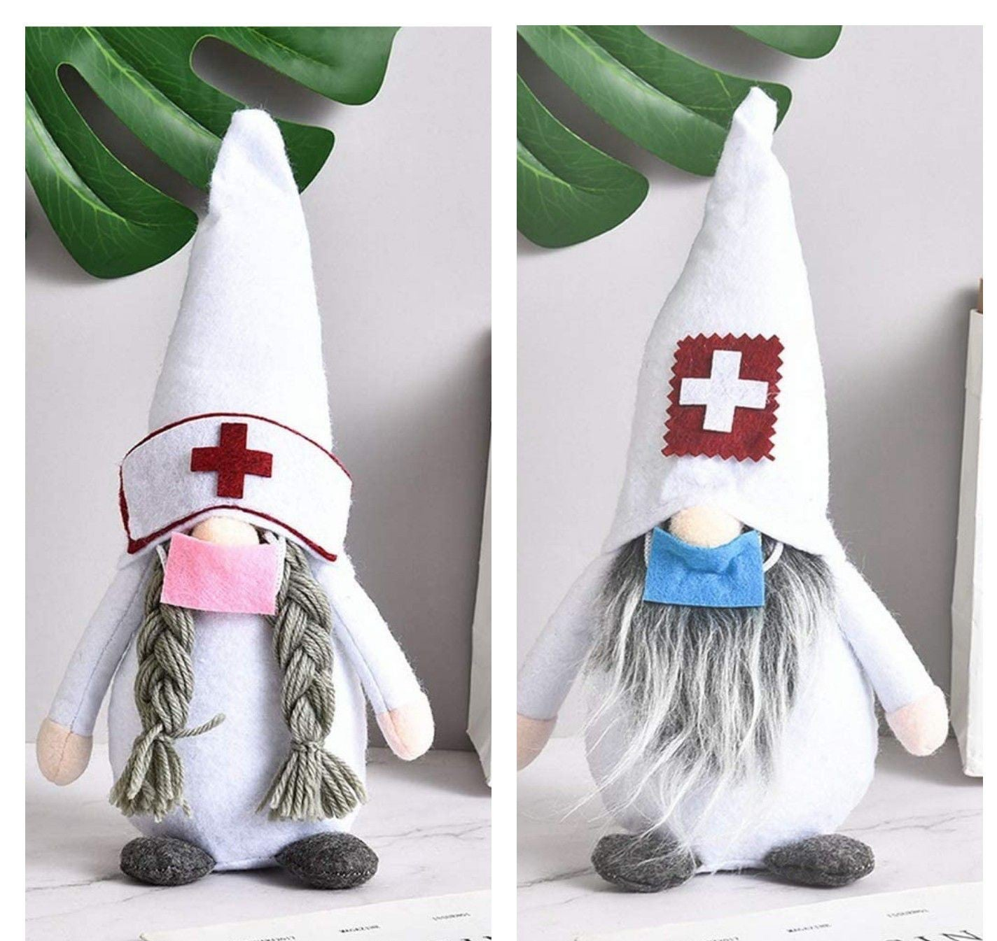 2 Adorable Gnomes with Mask