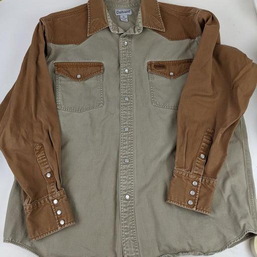 Carhartt men's twill snap work shirt XL