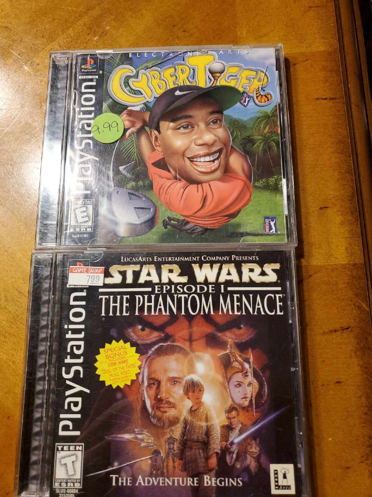 Ps1 game lot of 2! Star wars, cyber tige