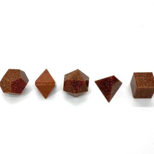 Red Goldstone Platonic Geometry Set