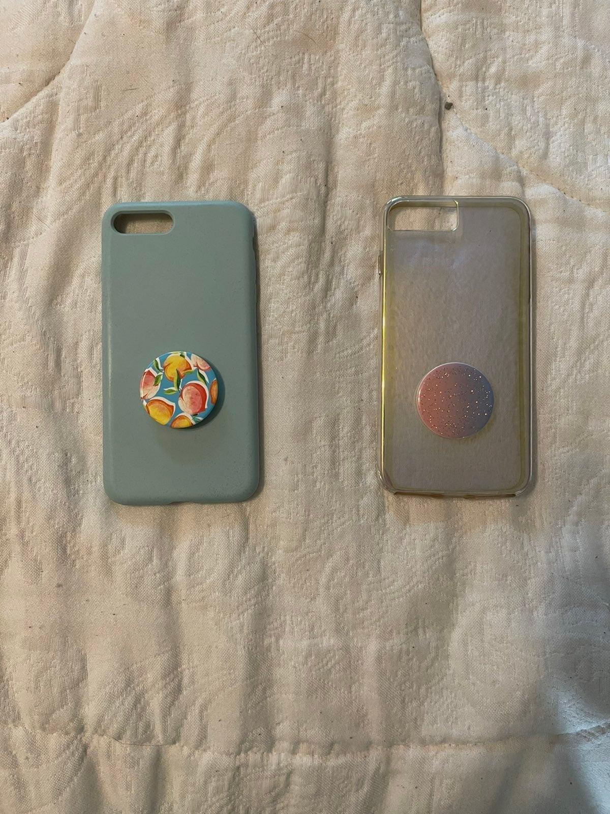 Iphone 8 Plus phone Case pop socket