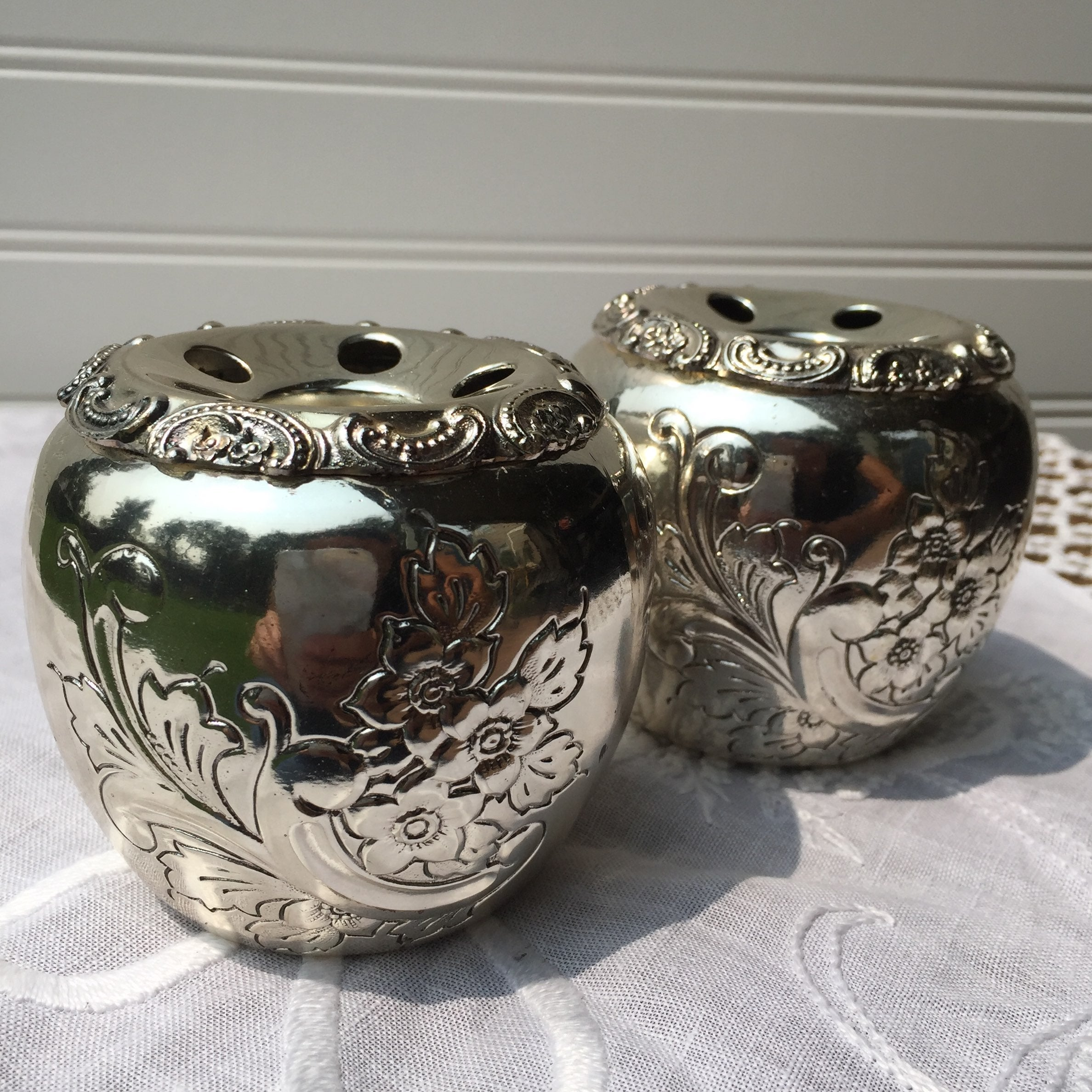Vintage Silver plated Candle Sticks
