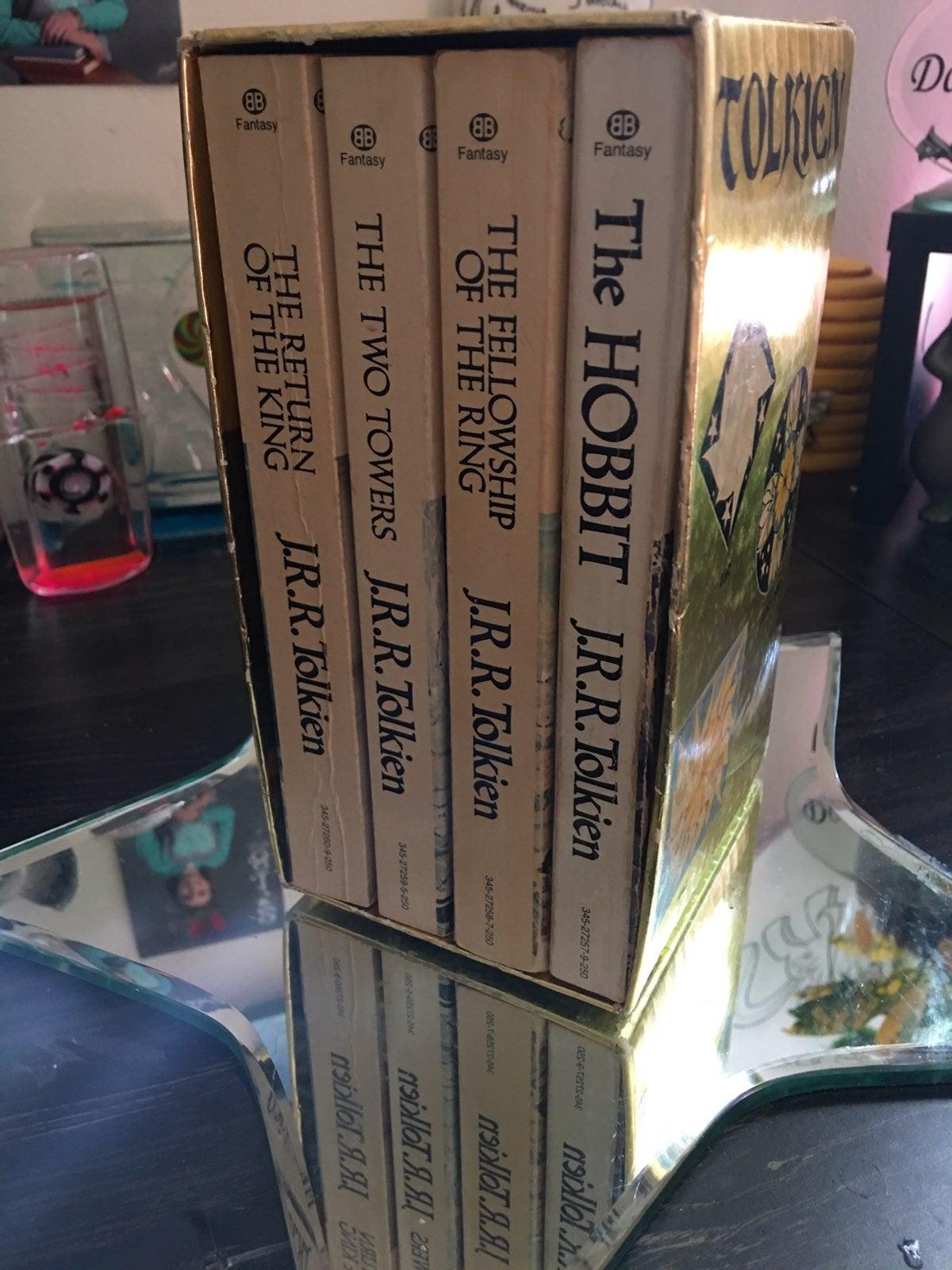 Vintage JRR Tolkien Gold book set