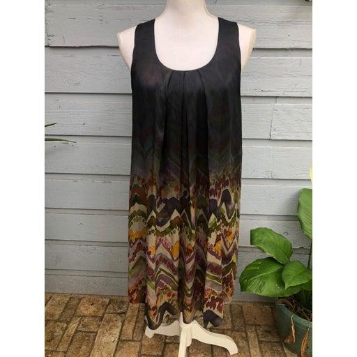 Calypso St. Barth Sleeveless Abstract Shift Dress