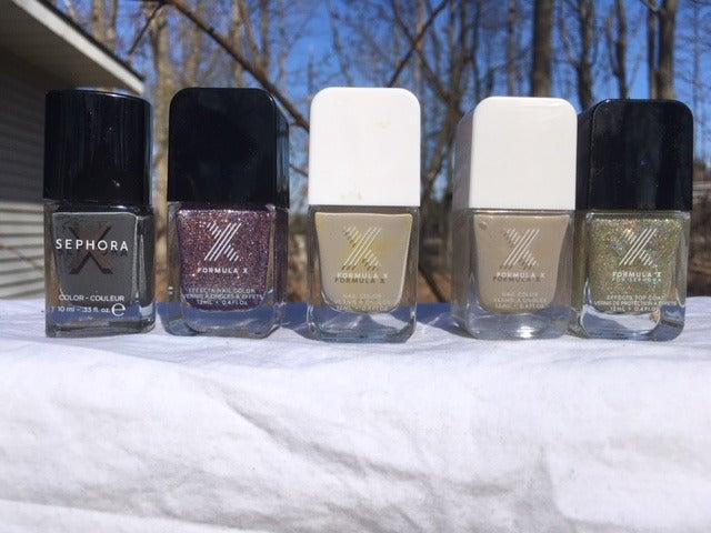 Sephora X nail polishes  X5