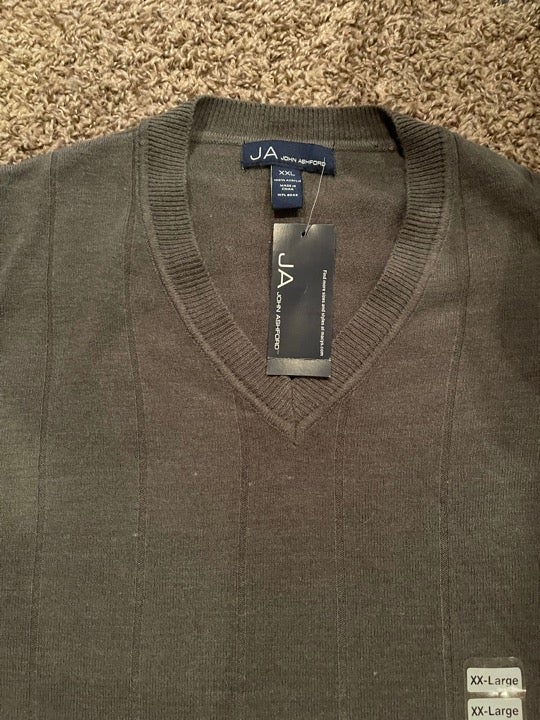 JOHN ASHFORD men's NWT sweater size XXL