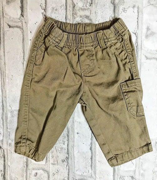 Baby Boy Size 0-3 Month Brown Pants
