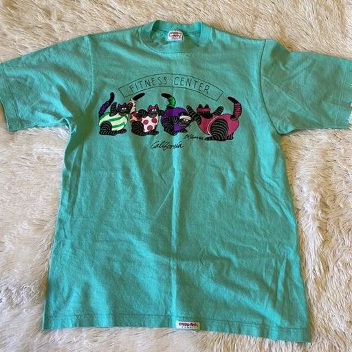 Vtg Crazy Shirts Hawaii Cats T Shirt M