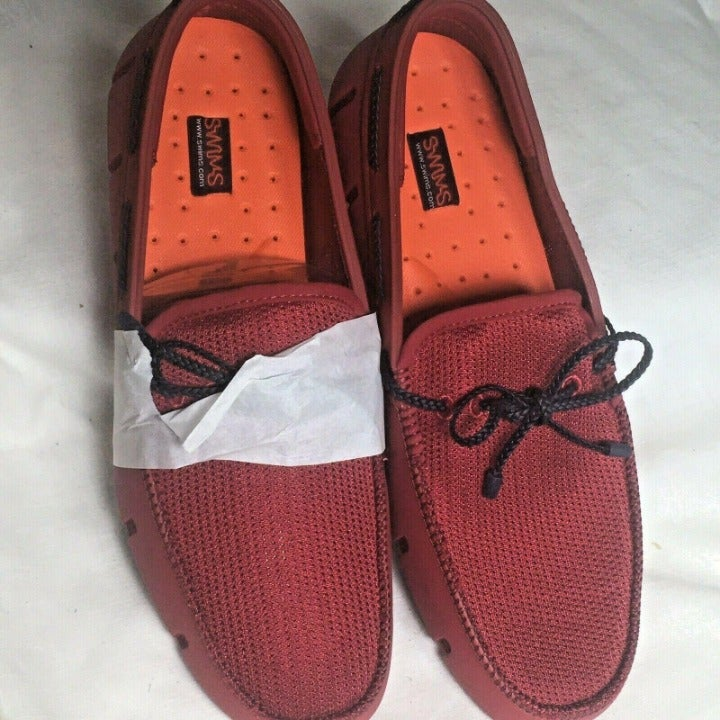 Swims Braided Loafer Men's 9 NWOT Red
