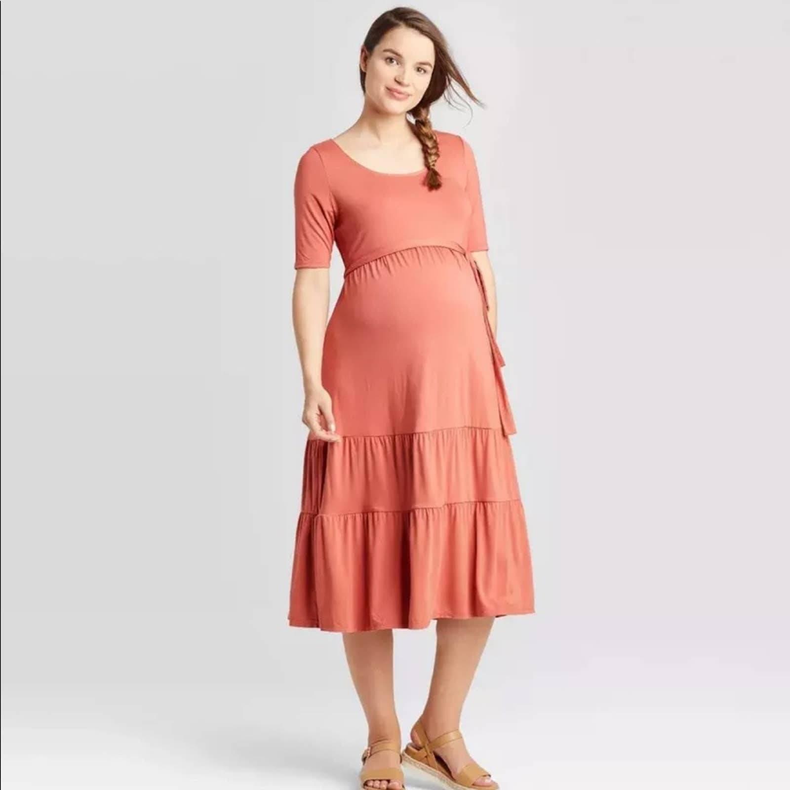 Isabel Maternity Pink Summer Dress XXL