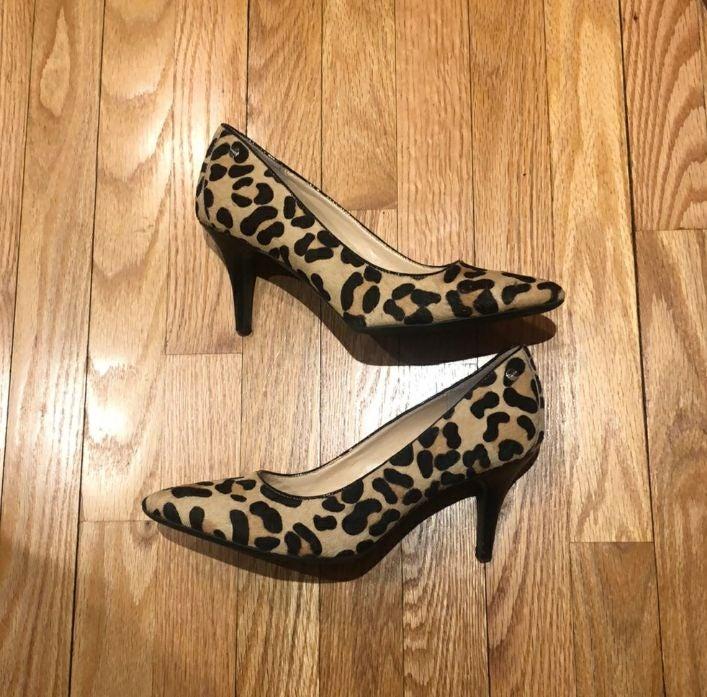 Cheetah print mohair Heels
