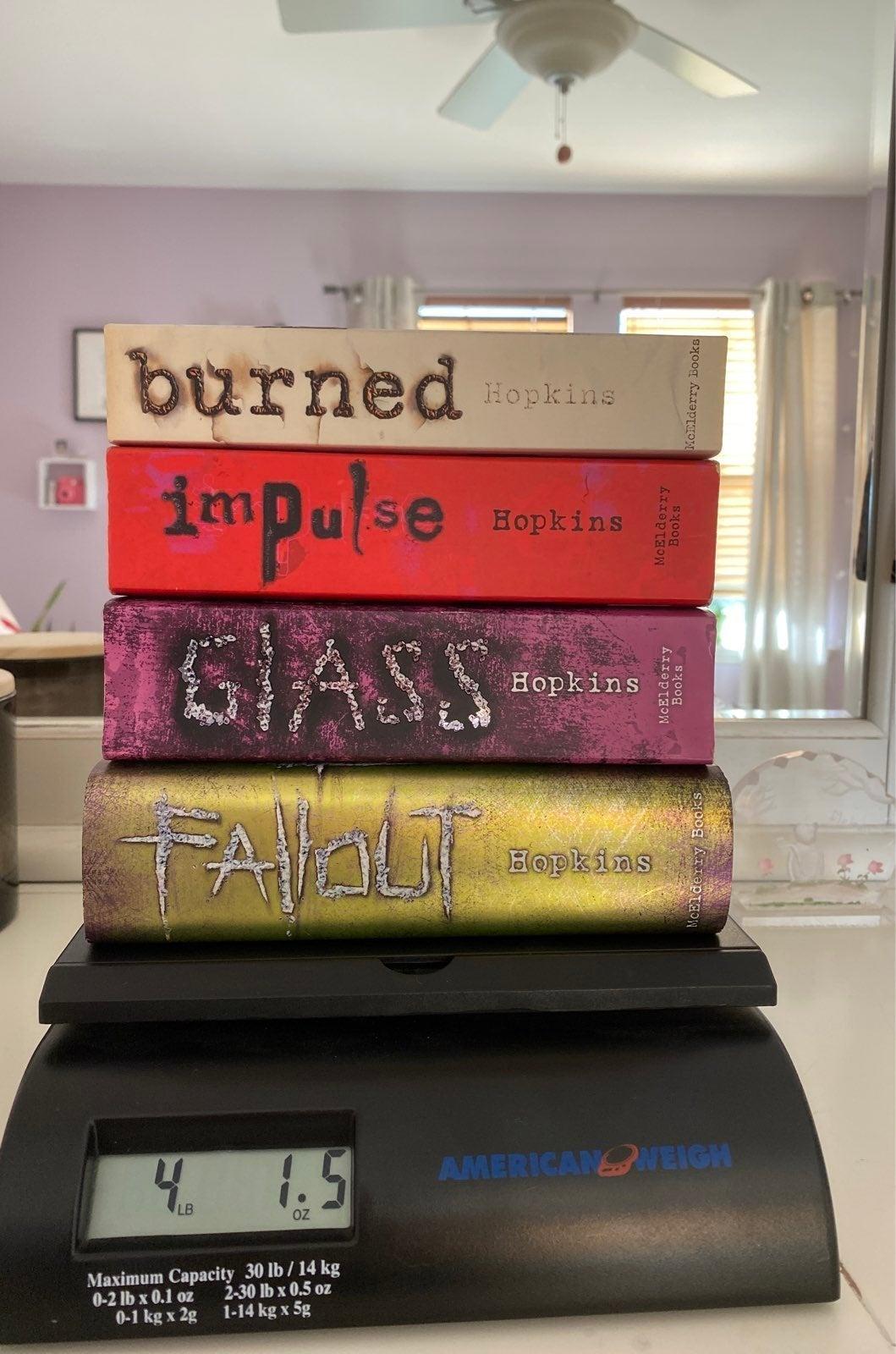 Ellen Hopkins books (4)