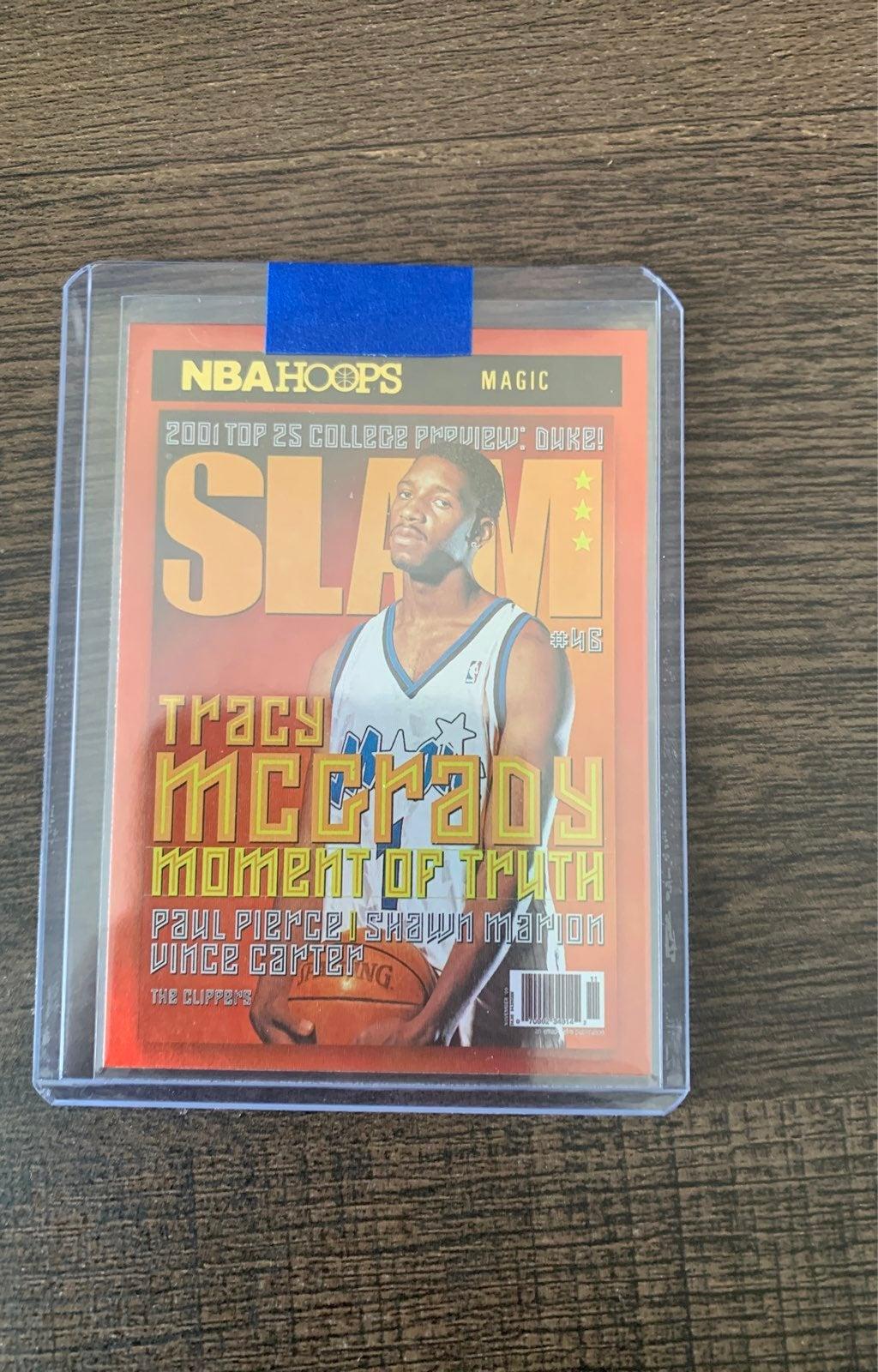 Tracy Mcgrady Slam Gold Foil Card Mint