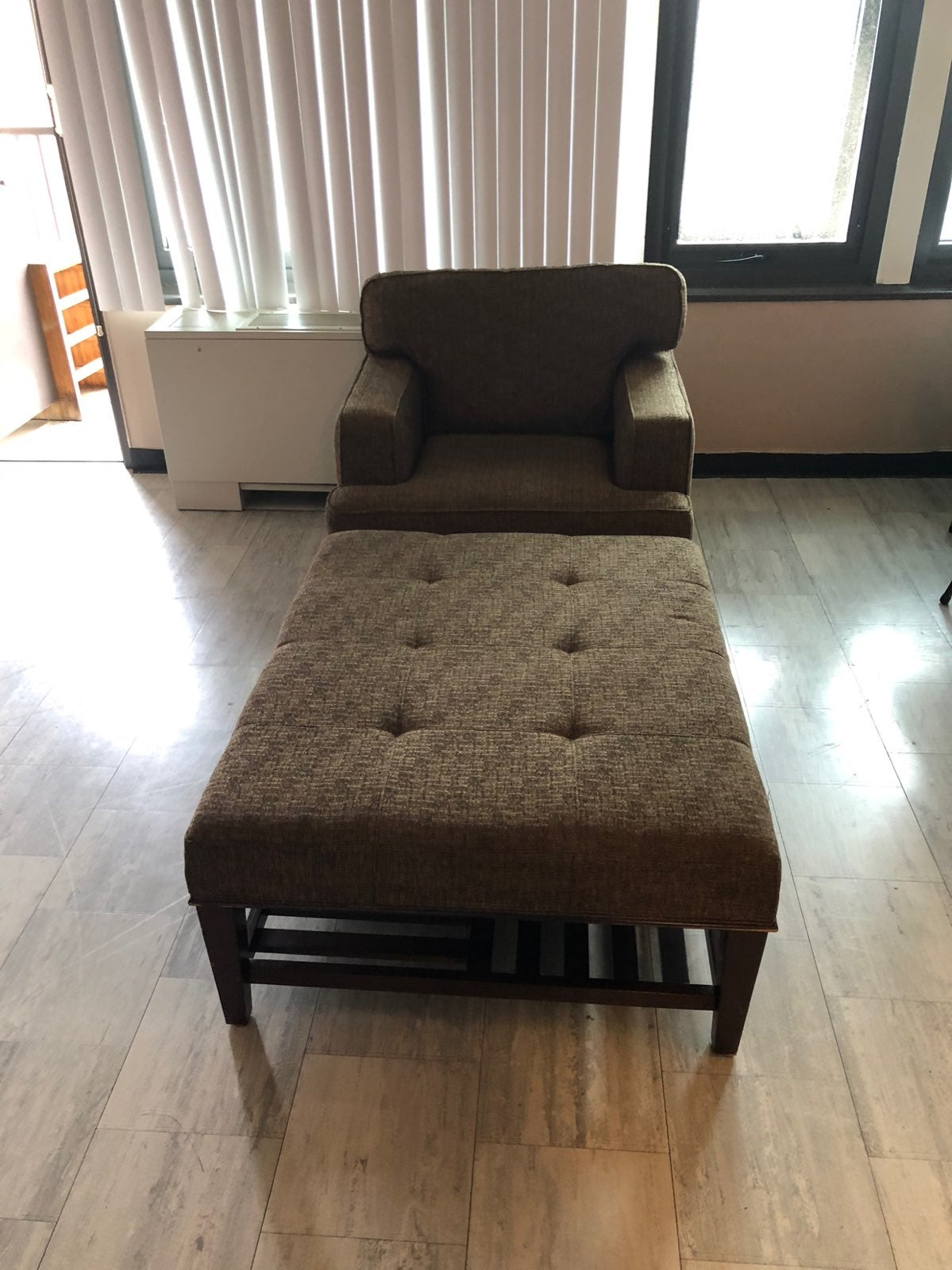 Bloomingdales upholstered arm chair and