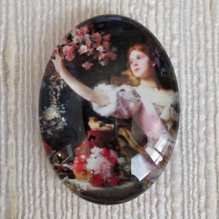 XL Victorian Cameo Glass Cabochon 6031