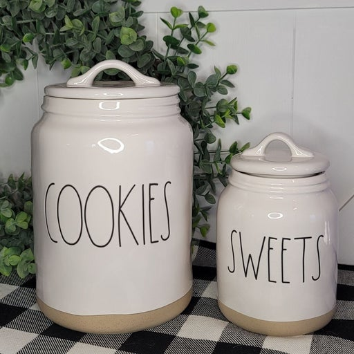 Rae Dunn COOKIES & SWEETS Canisters
