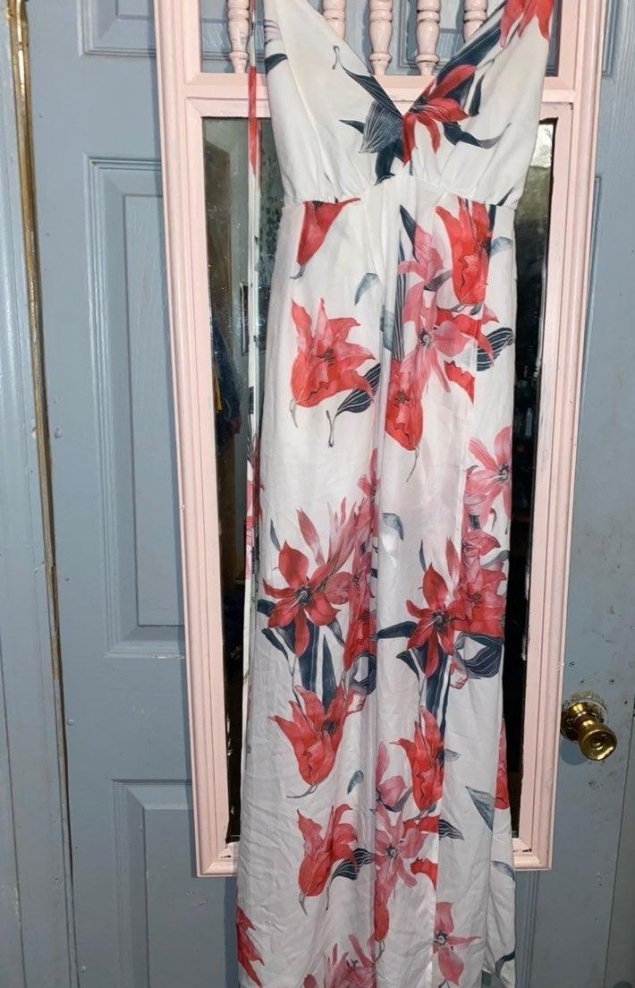bar iii floral maxi dress