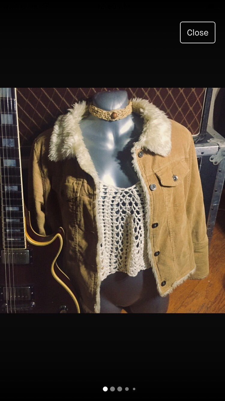 Seventy Seven Beige Corduroy Jacket
