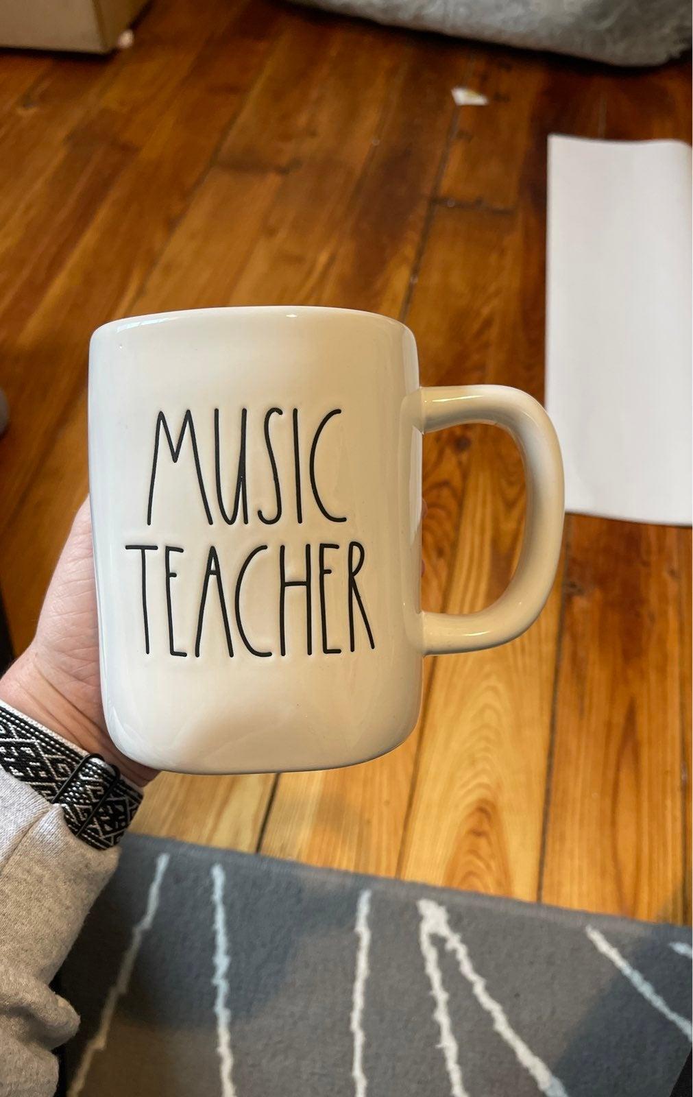 "New Rae Dunn ""MUSIC TEACHER"" Mug"