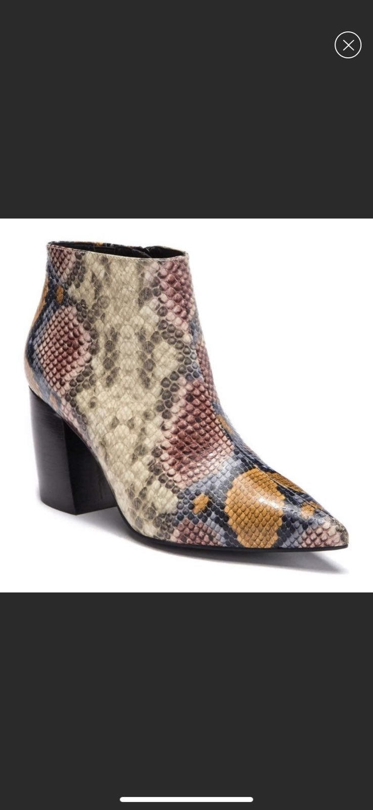 JEFFREY CAMPBELL SNAKE EMBOSSED BOOT