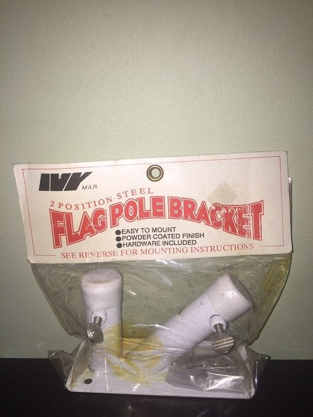 2/$20 Steel flag bracket