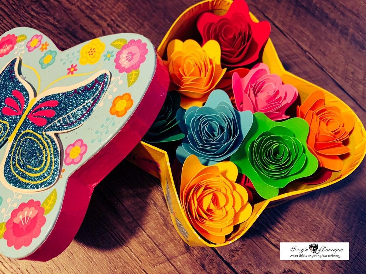 Forever Flower Boxes - Handmade Paper As