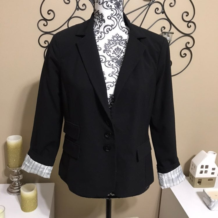 Kenneth Cole Black Blazer Jacket 0