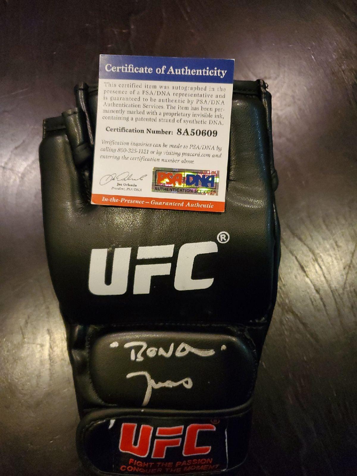 "Jon ""BONES Jones Autographed UFC Glove W"