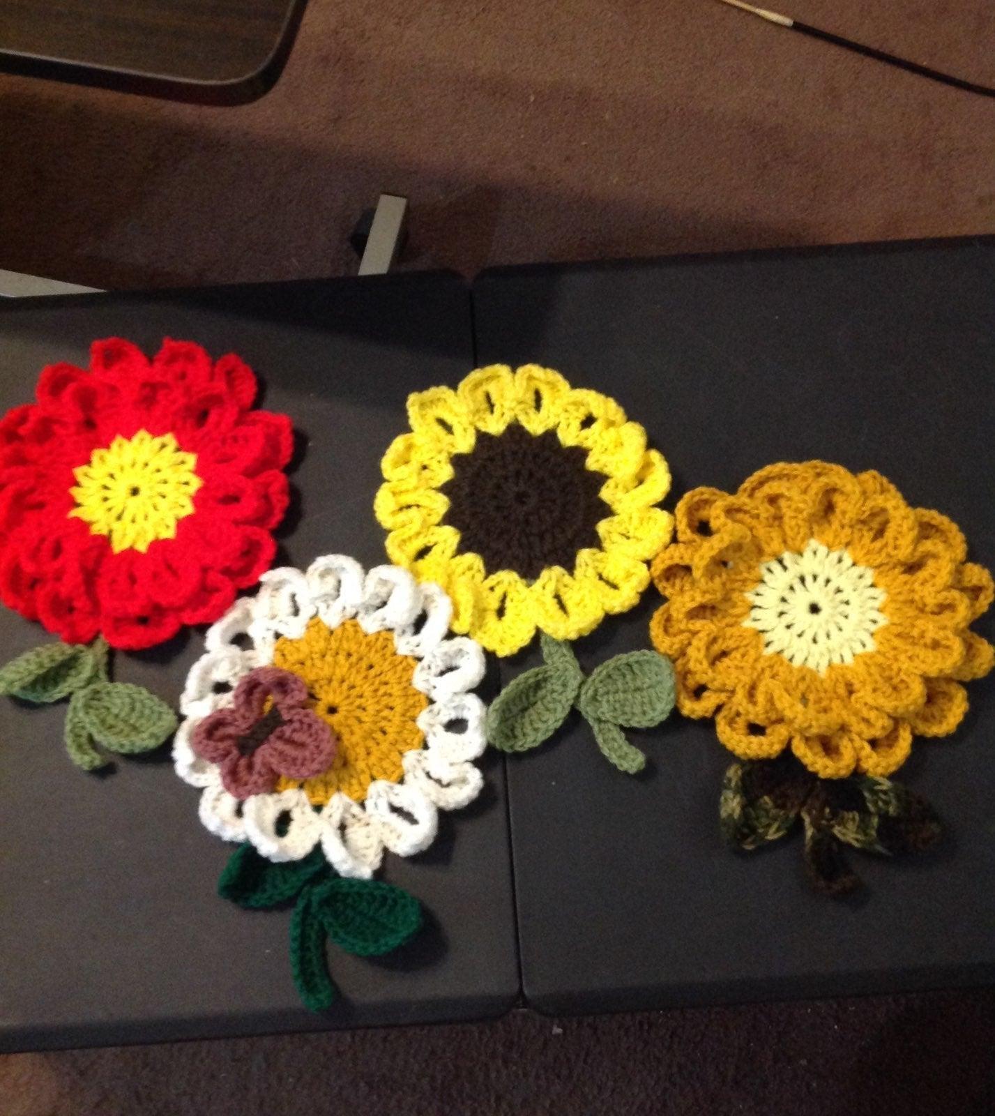 Decorative Crocheted Pot Holders