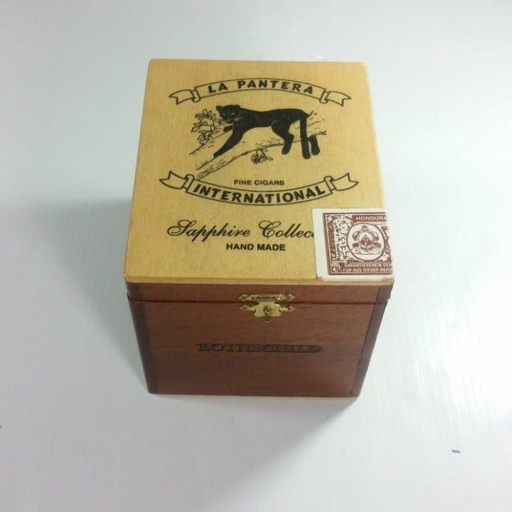 La Pantera Cigar Wooden Box 5.5x4.5x4.5