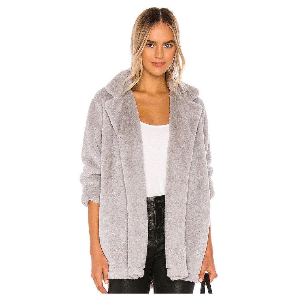 Splendid Faux Fur Fleece Teddy Jacket XS