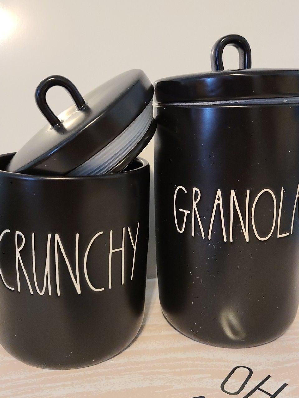 Rae Dunn Granola and crunchy Canister