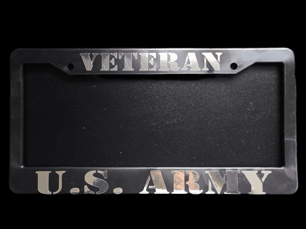 Veteran US Army License Plate Frame