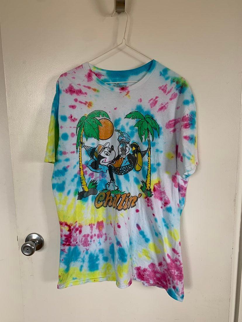 Tye Dye Disney Mickey Mouse Shirt