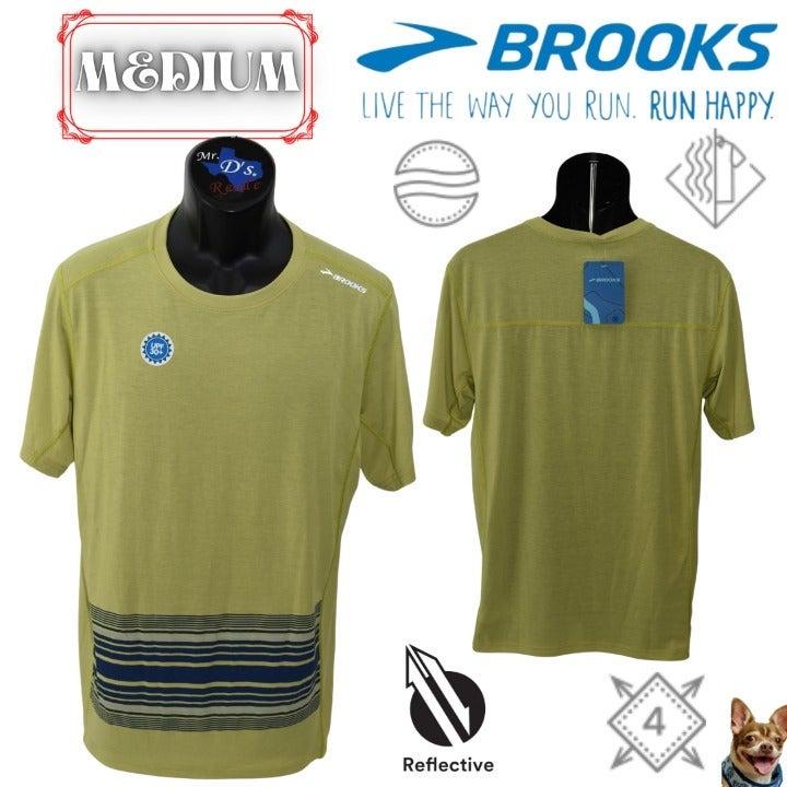 Brooks Medium Heather Green Distance S/S