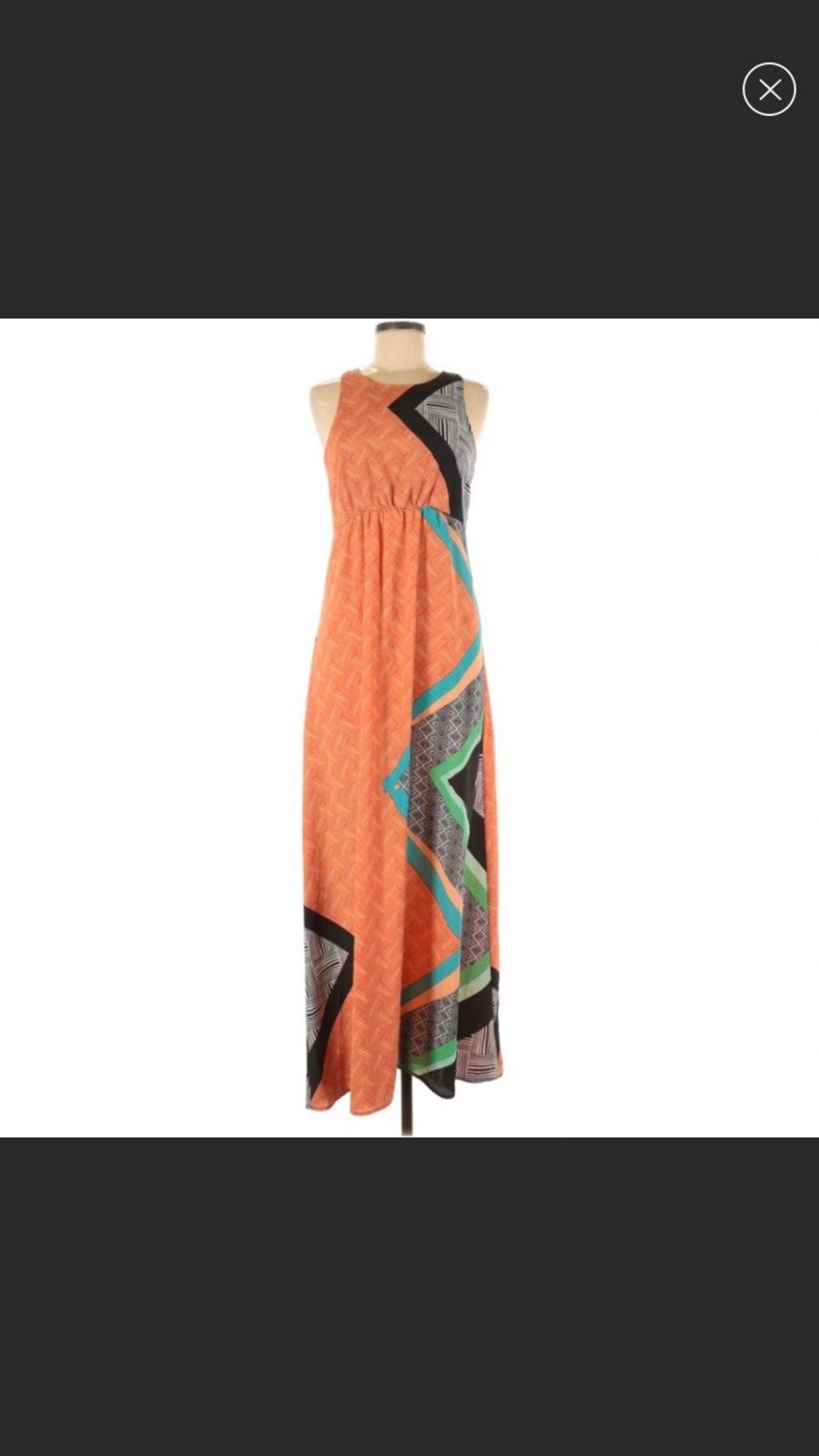 Bar III graphic maxi dress