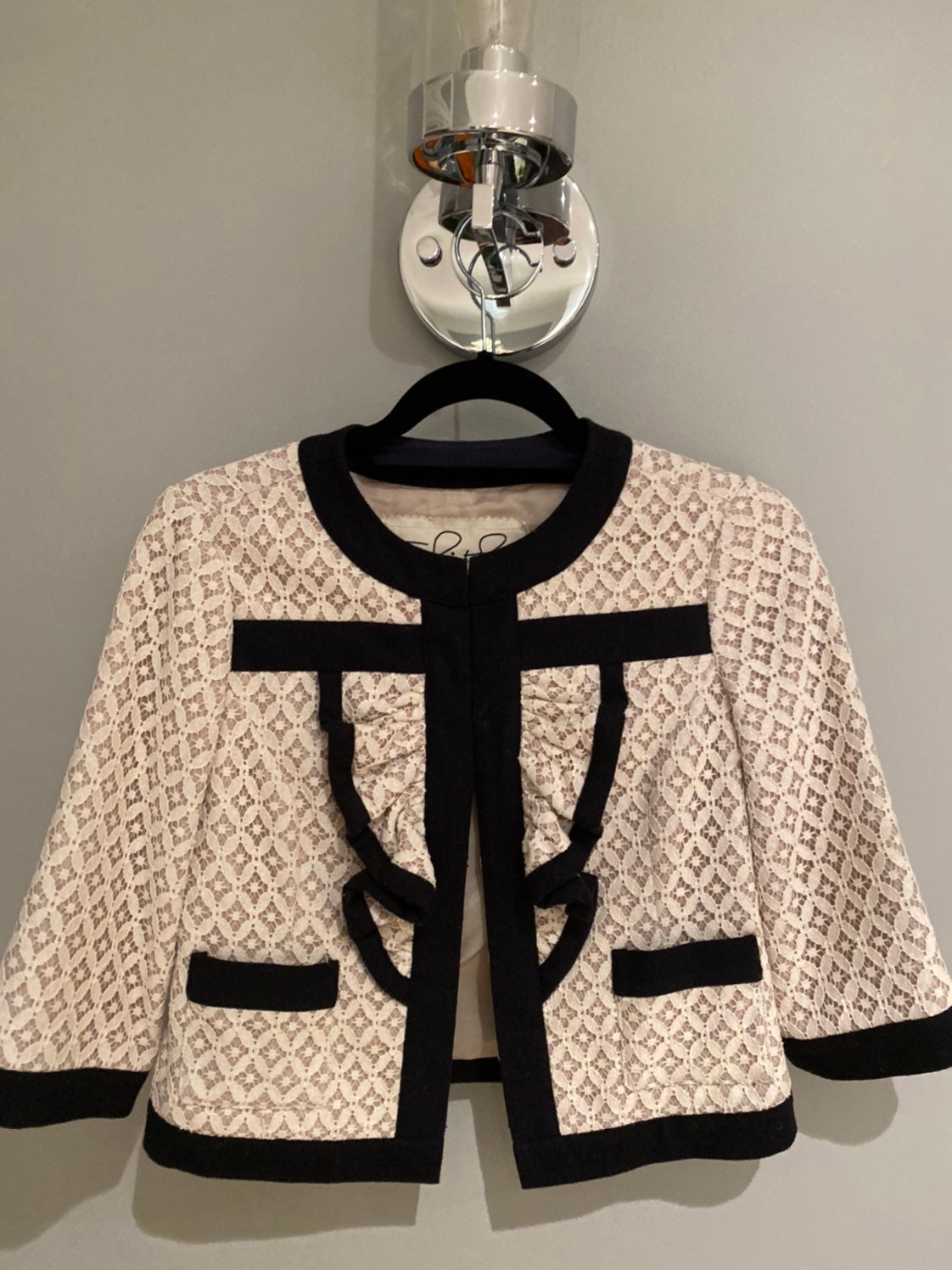 Chanel style Lace jacket/Blazer