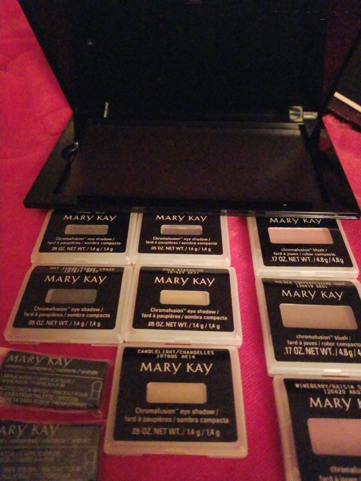 Mary Kay blush/shadow/case/applicators
