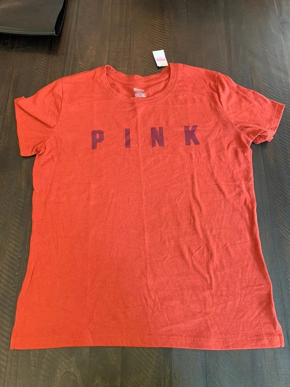 VS PINK RED RUST TSHIRT NEW