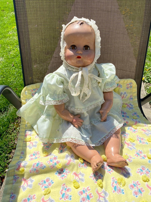 """Ideal Plassie 22"""" Hard plastic Doll"""