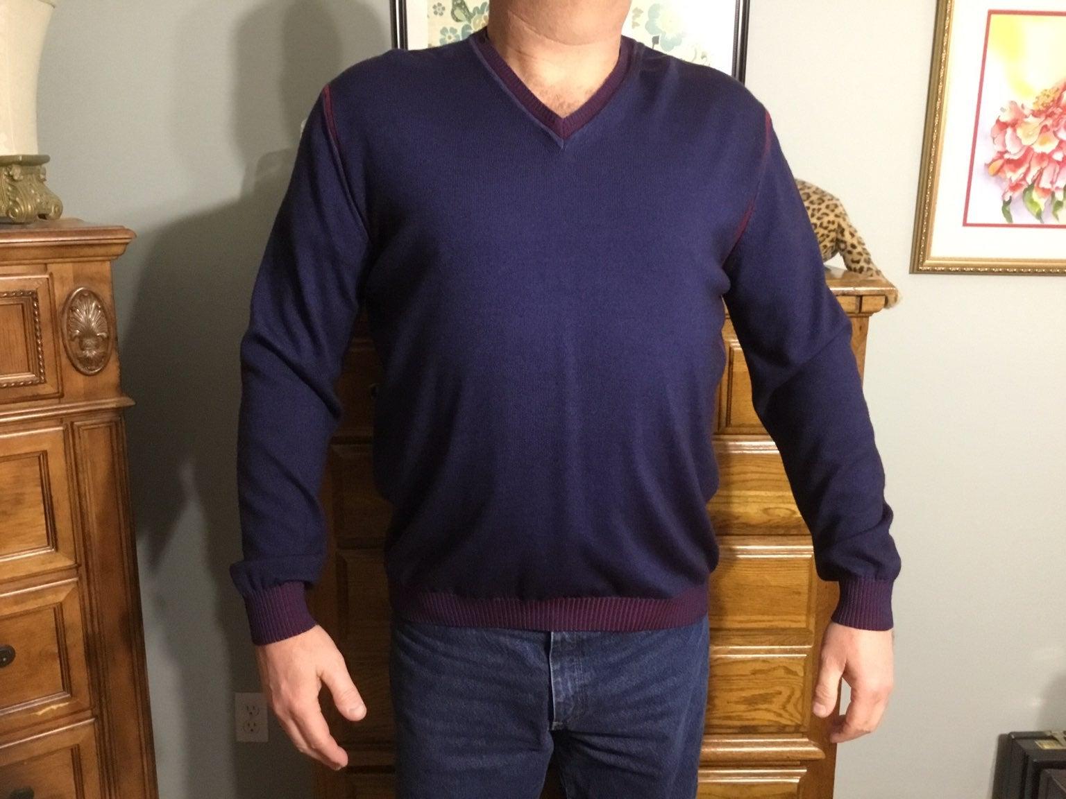 Bugatchi Night Blue Sweater XL