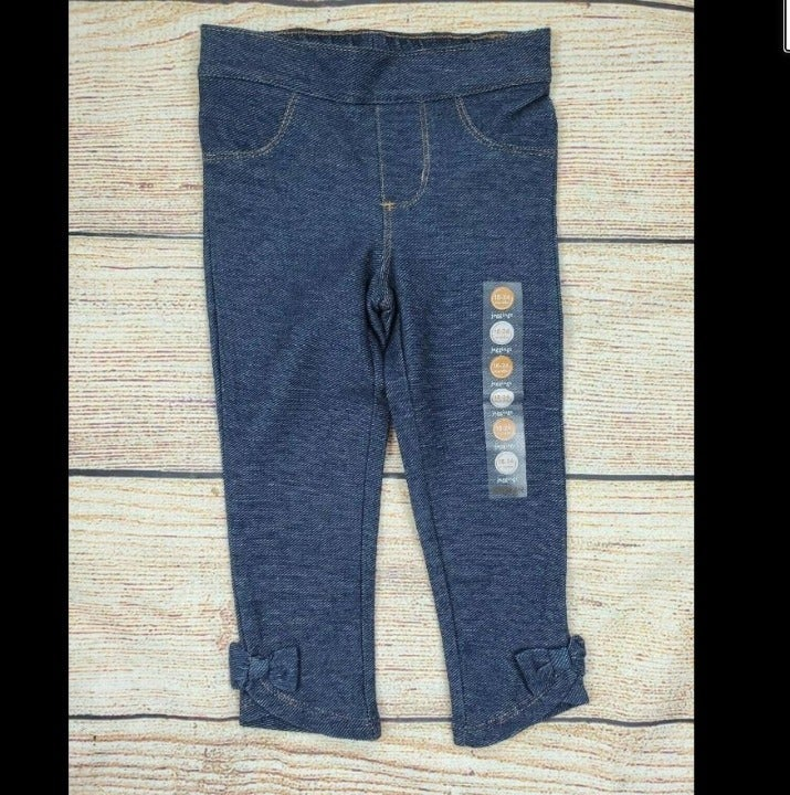 Gymboree Girls Bow Cuff Jeggings Jeans